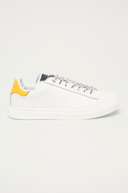 biela Trussardi Jeans - Kožená obuv Pánsky