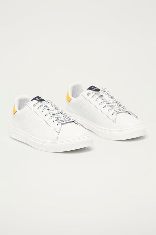 Trussardi Jeans - Kožená obuv biela