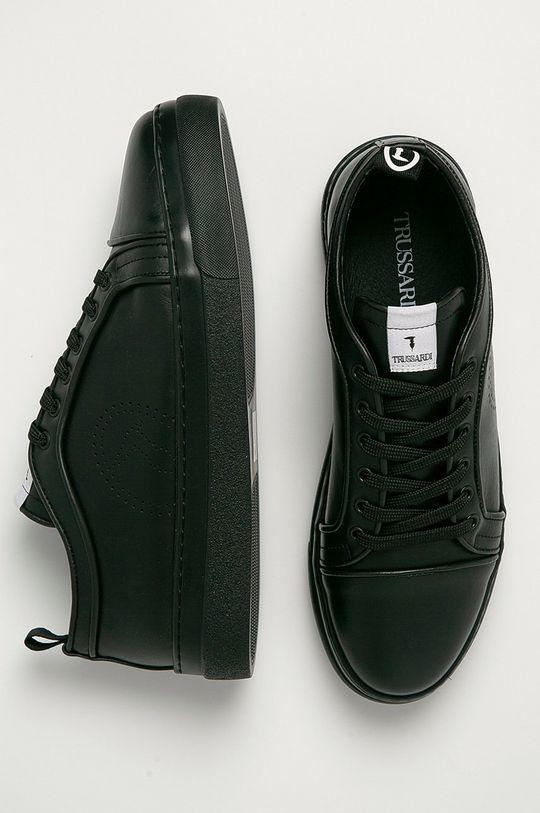 czarny Trussardi Jeans - Buty skórzane