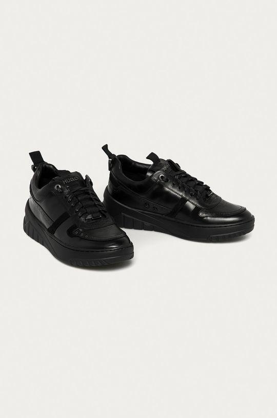 Hugo - Buty skórzane czarny