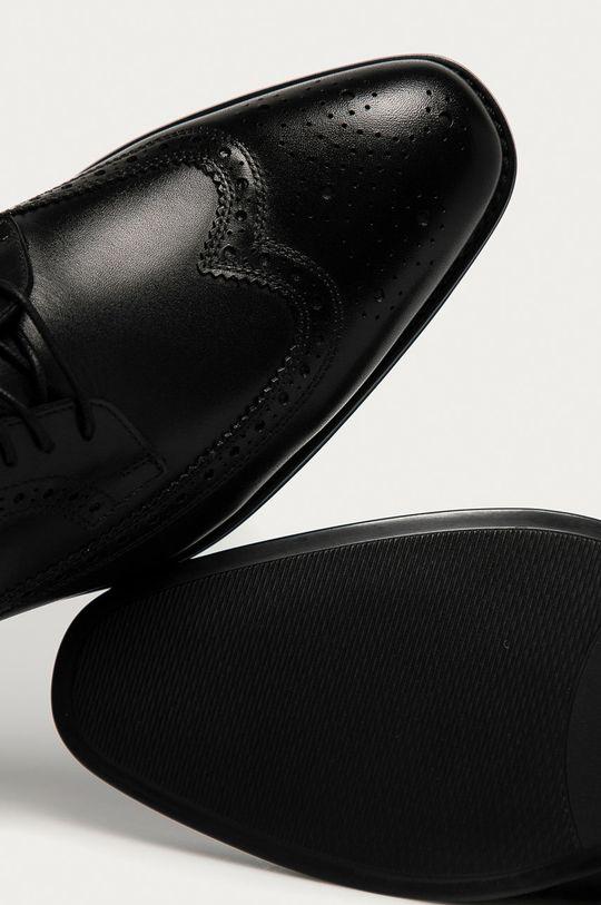 černá Karl Lagerfeld - Kožené polobotky