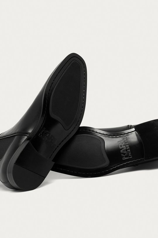 černá Karl Lagerfeld - Kožené kotníkové boty