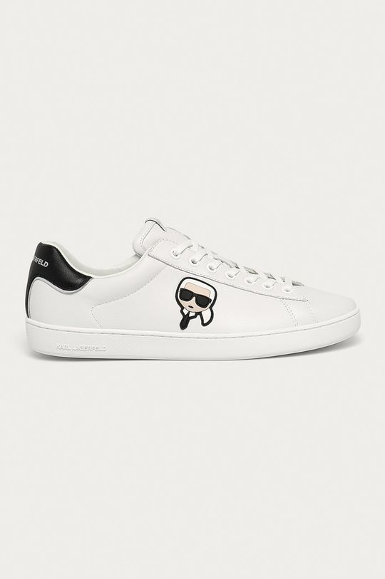 bílá Karl Lagerfeld - Kožené boty Pánský