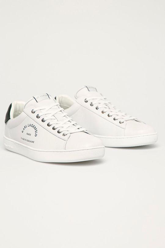 Karl Lagerfeld - Kožená obuv biela
