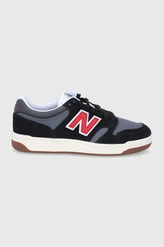 černá New Balance - Kožené boty BB480LVB Pánský