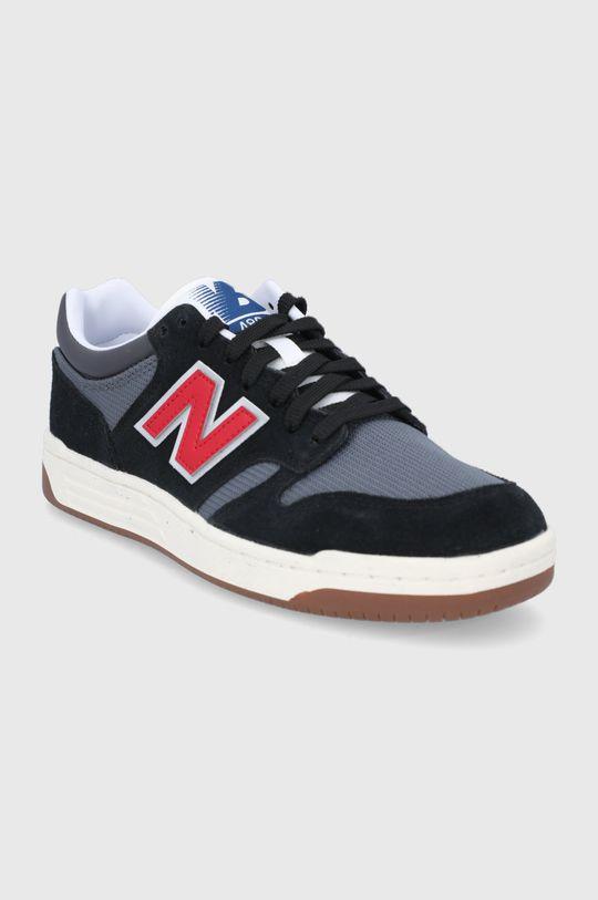 New Balance - Kožené boty BB480LVB černá