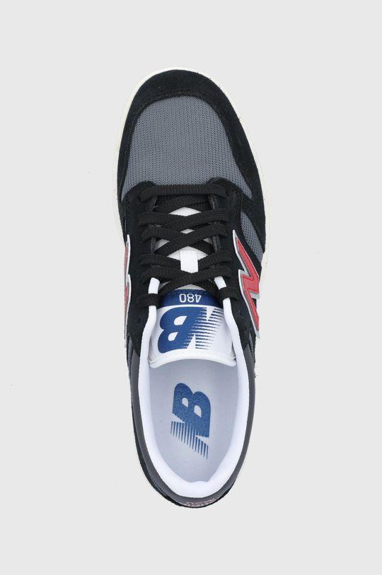 černá New Balance - Kožené boty BB480LVB