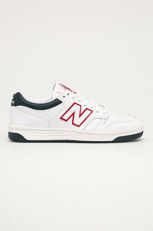 biela New Balance - Kožená obuv BB480LWG Pánsky