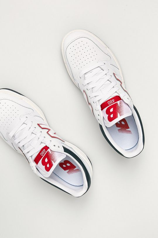 biela New Balance - Kožená obuv BB480LWG
