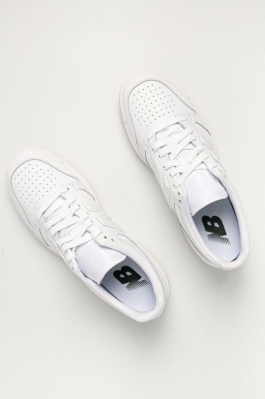 biały New Balance - Buty skórzane BB480LWW