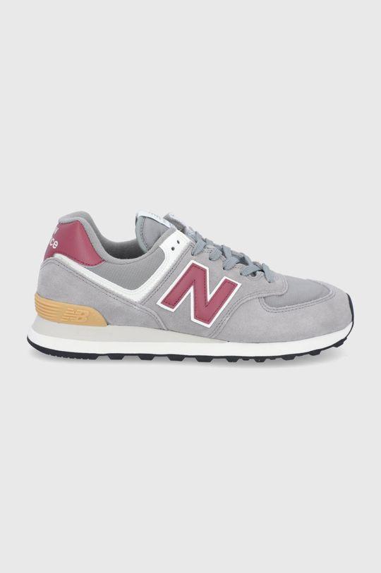sivá New Balance - Topánky ML574ME2 Pánsky