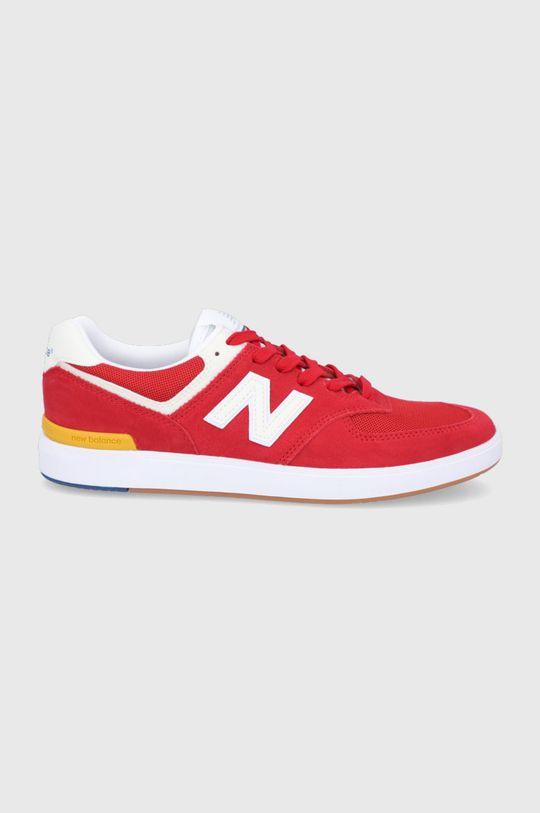 červená New Balance - Topánky AM574RWY Pánsky
