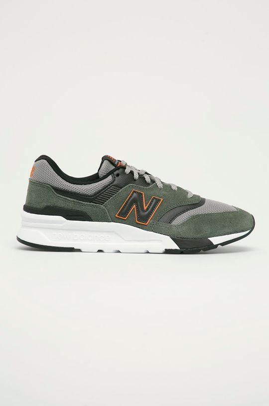 hnedo zelená New Balance - Topánky CM997HVS Pánsky