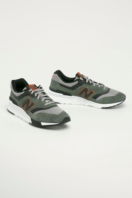New Balance - Topánky CM997HVS hnedo zelená