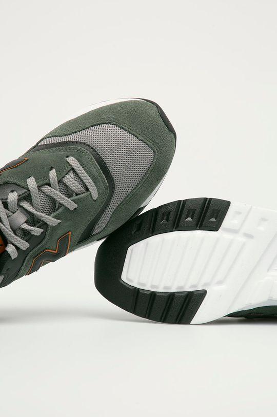 hnedo zelená New Balance - Topánky CM997HVS