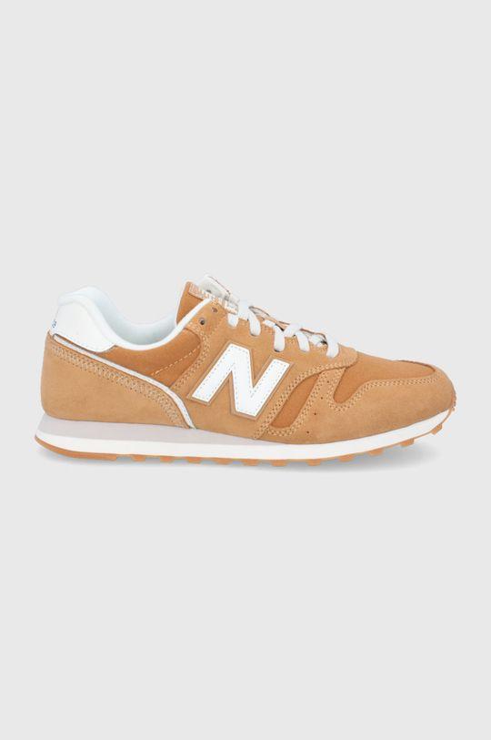 horčicová New Balance - Kožená obuv ML373SM2 Pánsky