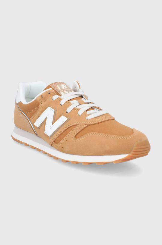 New Balance - Kožená obuv ML373SM2 horčicová