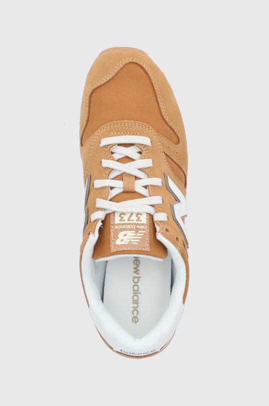 horčicová New Balance - Kožená obuv ML373SM2