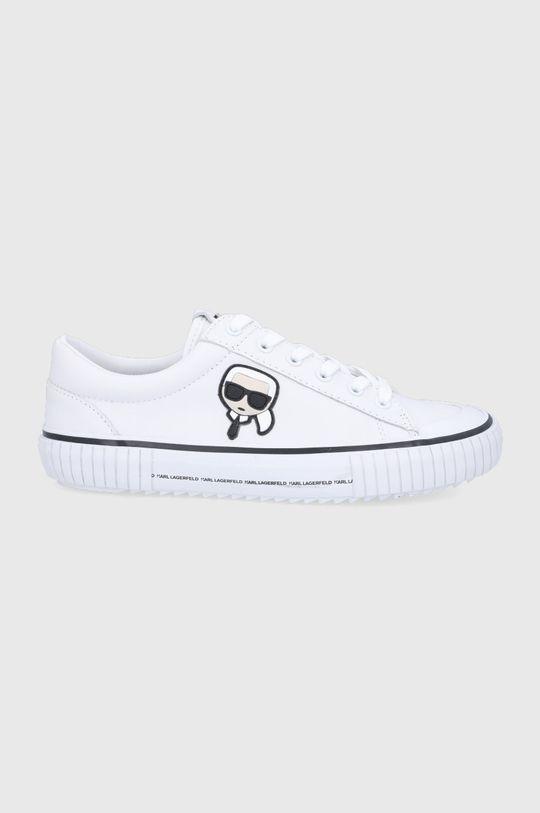 fehér Karl Lagerfeld - Bőr tornacipő Férfi