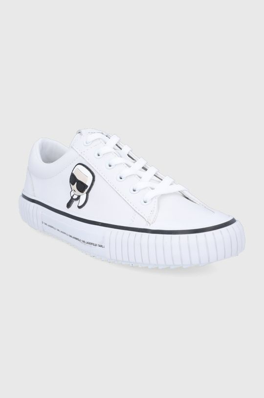 Karl Lagerfeld - Bőr tornacipő fehér