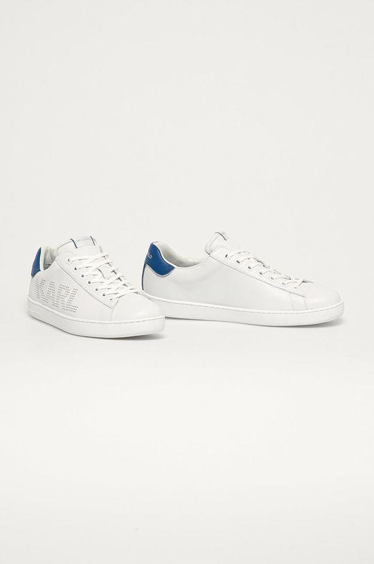 Karl Lagerfeld - Kožené boty bílá