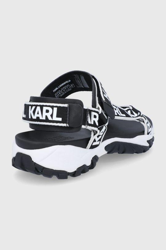 Karl Lagerfeld - Sandały Cholewka: Materiał tekstylny, Skóra naturalna, Wnętrze: Materiał syntetyczny, Skóra naturalna, Podeszwa: Materiał syntetyczny