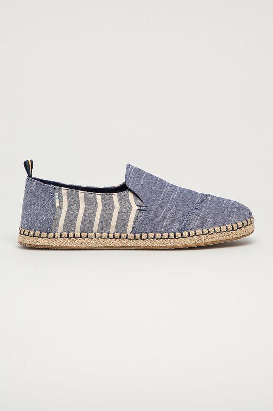 modrá Toms - Espadrilky Deconstructed Alparaga Rope Pánsky