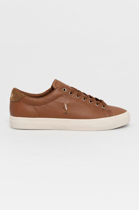 hnedá Polo Ralph Lauren - Kožená obuv Pánsky