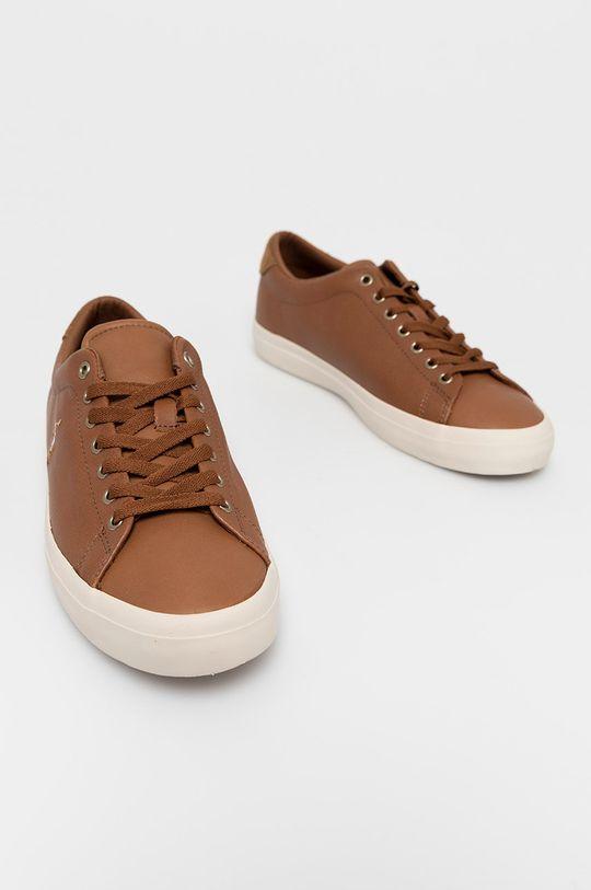 Polo Ralph Lauren - Kožená obuv hnedá