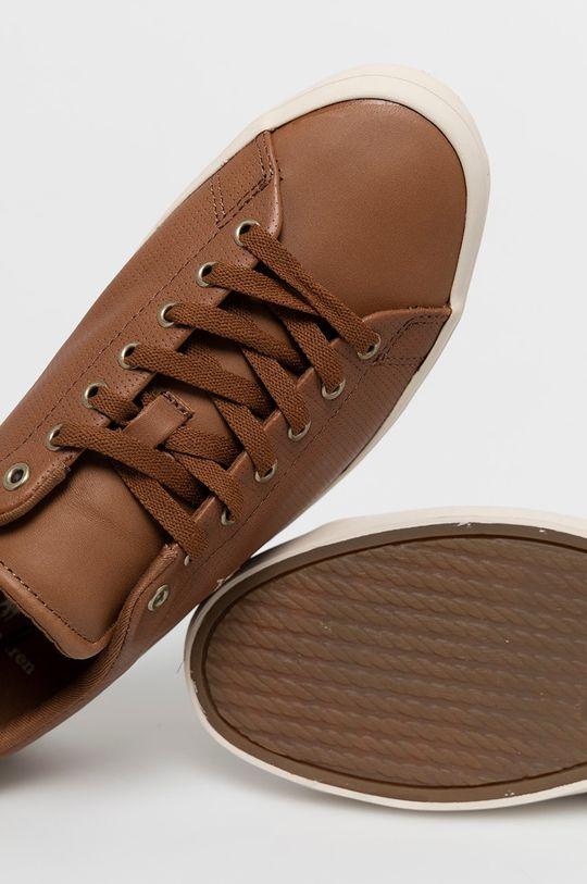 hnedá Polo Ralph Lauren - Kožená obuv