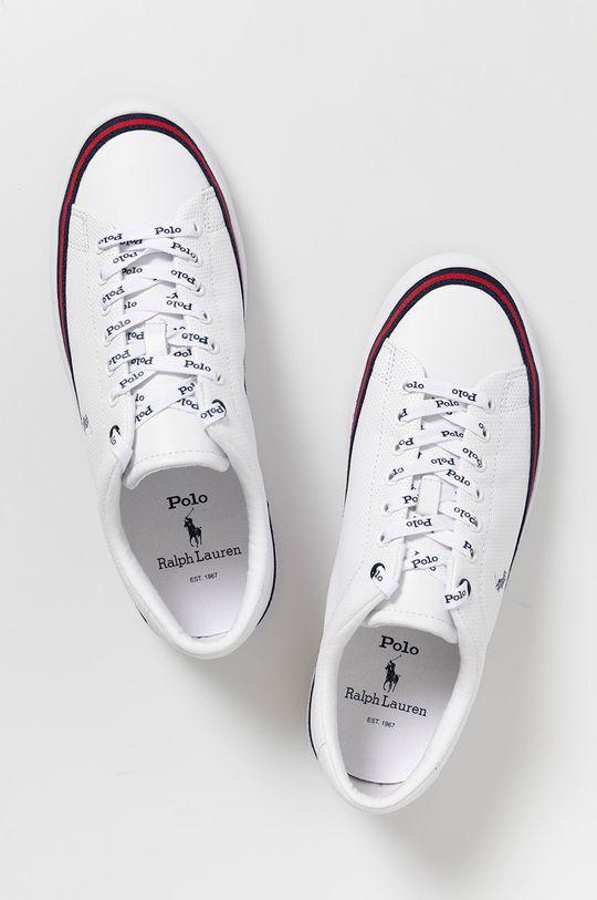 biały Polo Ralph Lauren - Buty skórzane