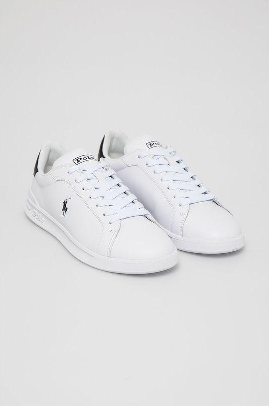 Polo Ralph Lauren - Kožená obuv biela