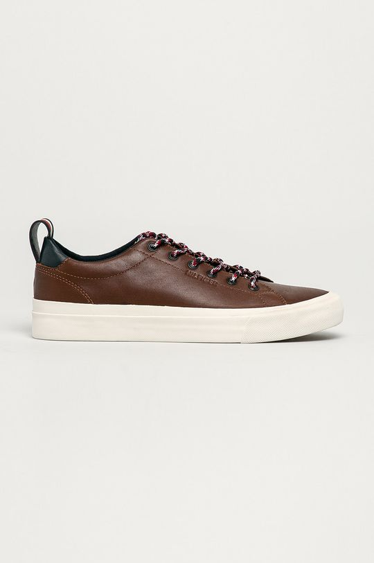 hnedá Tommy Hilfiger - Kožená obuv Pánsky