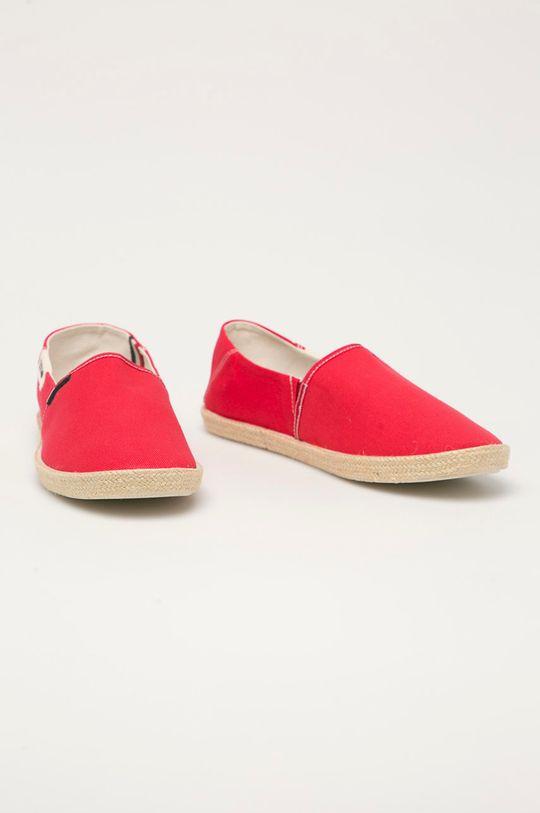Tommy Jeans - Espadrilky červená
