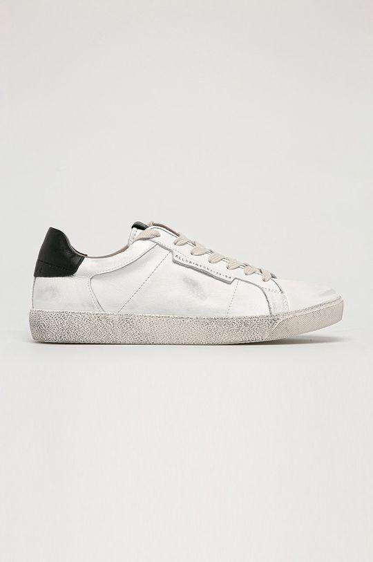 bílá AllSaints - Kožené boty Sheer Pánský