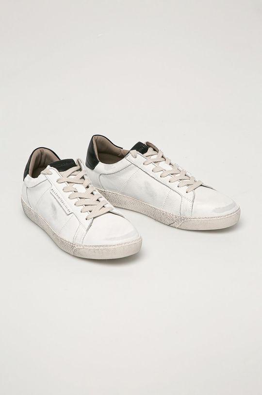 AllSaints - Kožené boty Sheer bílá