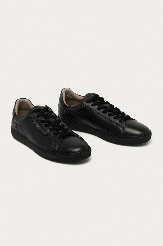 AllSaints - Buty skórzane Sheer czarny