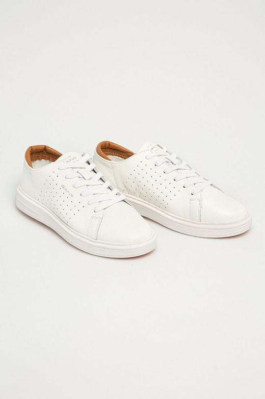 Gant - Kožené boty Fairville bílá
