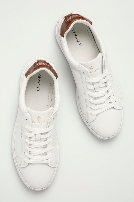 bílá Gant - Kožené boty Mc Julien