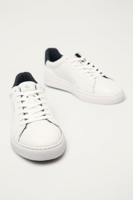 Gant - Kožená obuv Mc Julien biela