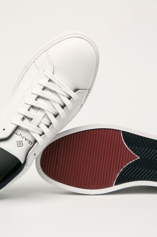 biela Gant - Kožená obuv Mc Julien