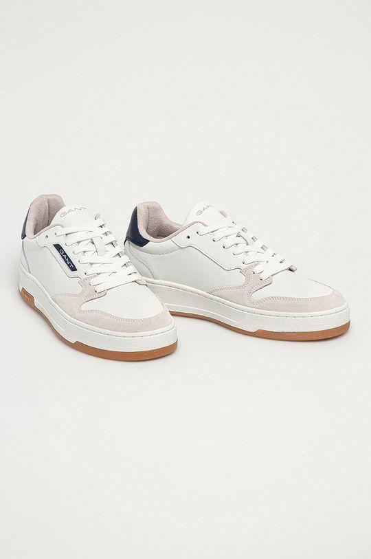 Gant - Kožená obuv Saint-Bro biela