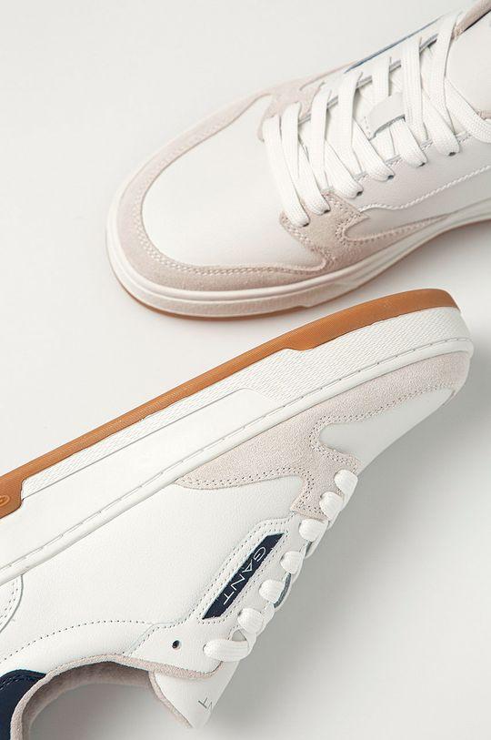 biela Gant - Kožená obuv Saint-Bro