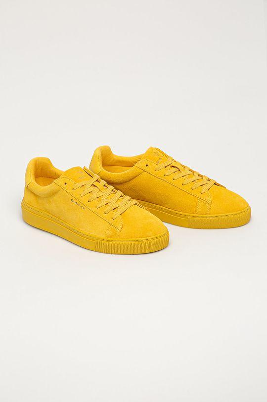 Gant - Kožené boty Mc Julien žlutá
