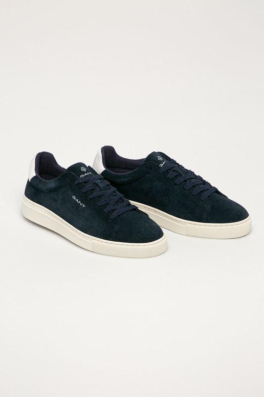 Gant - Kožené boty Mc Julien námořnická modř