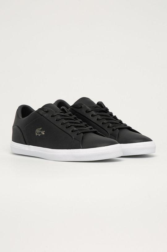 Lacoste - Kožené boty černá
