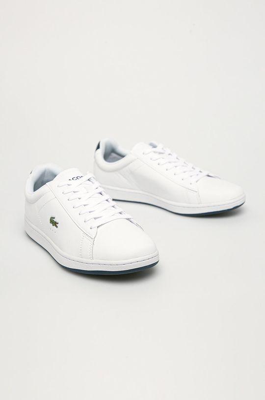 Lacoste - Kožené boty Carnaby bílá