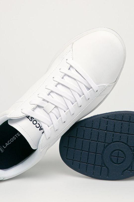 bílá Lacoste - Kožené boty Carnaby