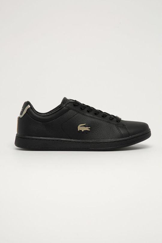 čierna Lacoste - Kožená obuv Carnaby Evo Pánsky
