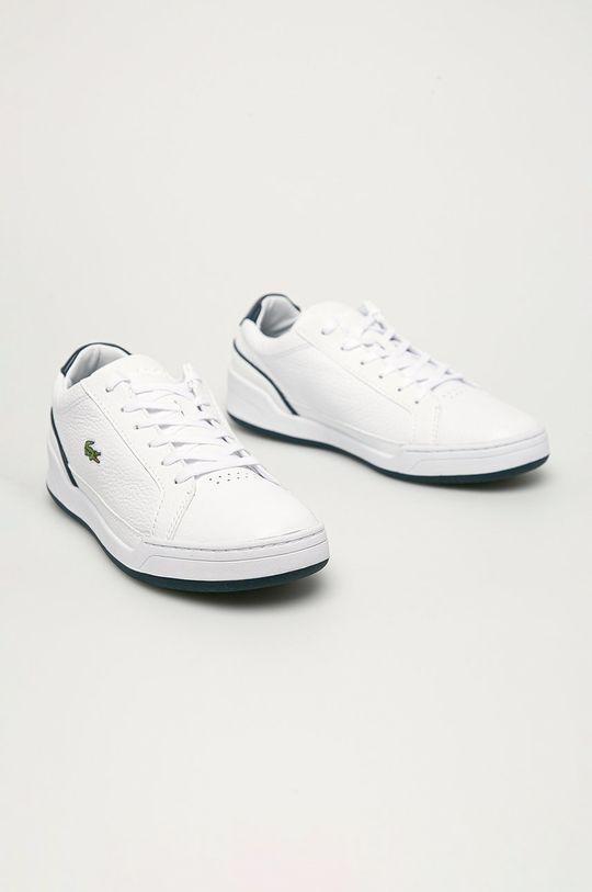 Lacoste - Kožené boty Challenge bílá